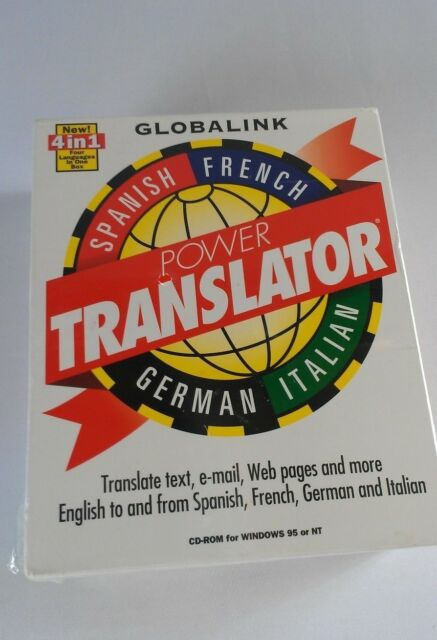 Globalink Power Translator 4 in 1 Language NEW Spanish French German Italian 6.0