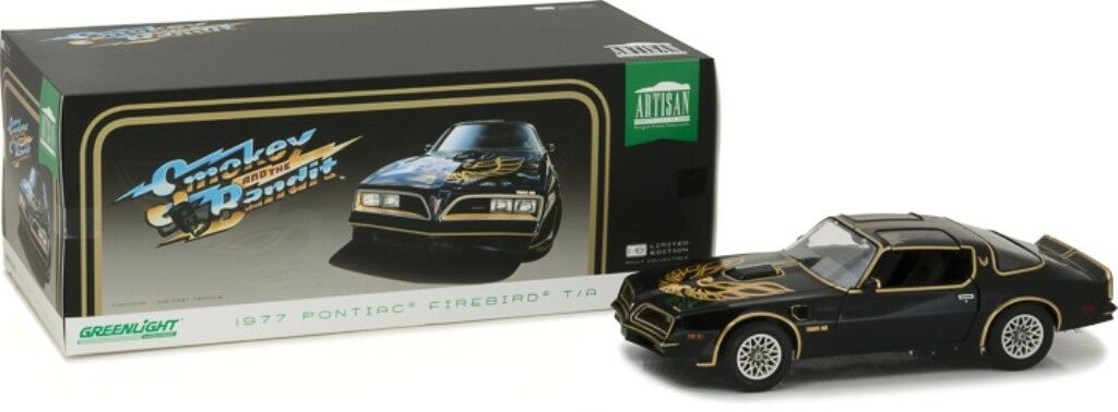 GREENLIGHT 19025 PONTIAC FIREBIRD TRANS AM model SMOKEY AND THE BANDIT 1977 1 18
