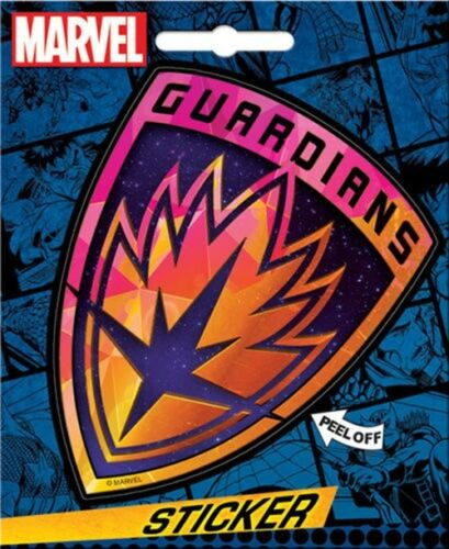 Guardians of the Galaxy Shield Logo Peel Off Sticker Decal NEW SEALED
