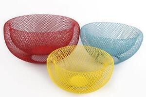Storage Baskets Decorative Fruit Bowls Kitchen Wire Mesh