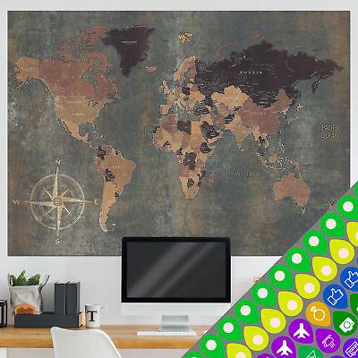 Vlies Tapete XXL Poster Fototapete Weltkarte Globus Antik