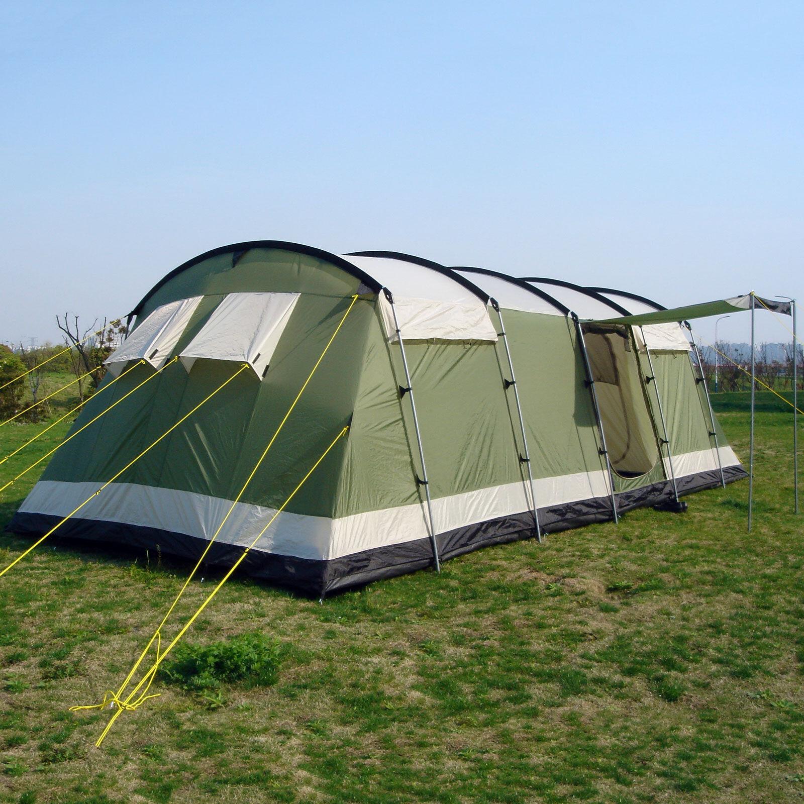 Skeika Milano 10 pers tenda campeggio tunnel 700x240cm zanzariera verde nuova