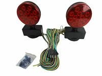 12v Led Magnetic Towing Lights Kit Trailer Rv Boat Dolly Brake Lights L.e.d