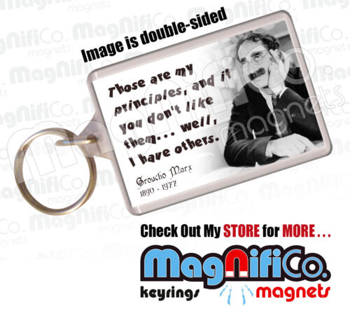Great stocking filler for men Keyring Fathers Day Gift Groucho Marx Quotes