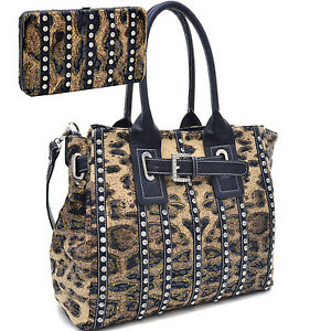 Western Bling Rhinestone Accent Handbag Purse Tote Bag ...