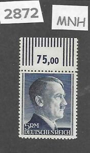 2872-MNH-5RM-Adolph-Hitler-Third-Reich-Germany-stamp-1942-1944-Sc527a