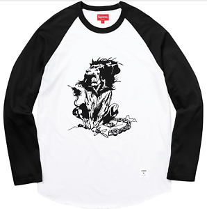 Supreme-Lee-Quinones-Lion-Raglan-Baseball-Top-Subway-art-neuf-avec-etiquettes