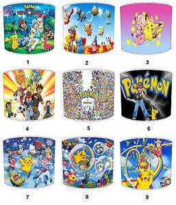 Pokemon-infantil-Pantallas-de-Lampara-Para-Combinar-Edredones-amp-Juegos