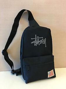 3a1be6b3e4 Band New Stussy Troops USA Black Cross Body Bag Messenger Bag ...