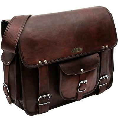Cross body Bag Leather Men Shoulder Messenger Satchel Laptop Briefcase Vintage