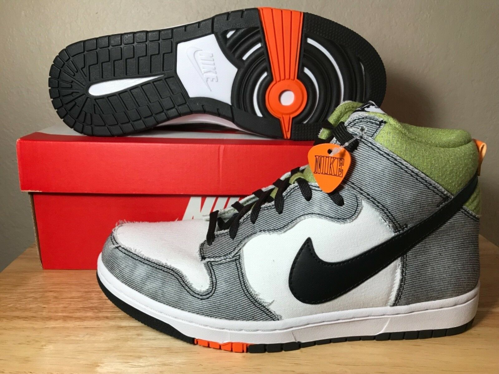 Nike Dunk CMFT White Clementine Black Mens Basketball shoes SZ New 705434-100