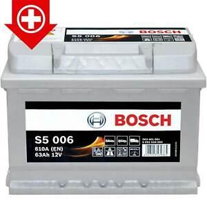 autobatterie 12v 63ah bosch s5 006 starterbatterie 0 092 s50 060 pluspol links ebay. Black Bedroom Furniture Sets. Home Design Ideas