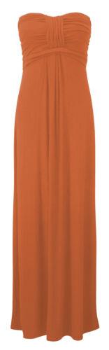 m//l 12-14 Mesdames boobtube nouées devant bustier bandeau robe longue s//m 8-10