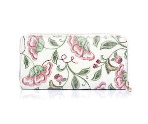 Mujer-Chica-Bonito-Crema-Rosa-florado-Monedero-Idea-Regalo-Nuevo