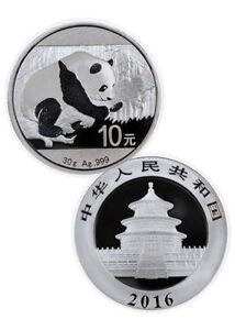 2 X 2011 China 1 Troy Oz .999 Fine Silver Panda 10 Yuan Face Value Gem Condition