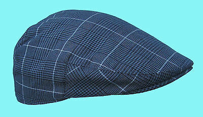 Flat Cap Light Grey Prince of Wales Pattern