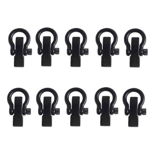 10Pcs Stainless Outdoor Adjustable Bow Shackle Rope Paracord Bracelet Buckle
