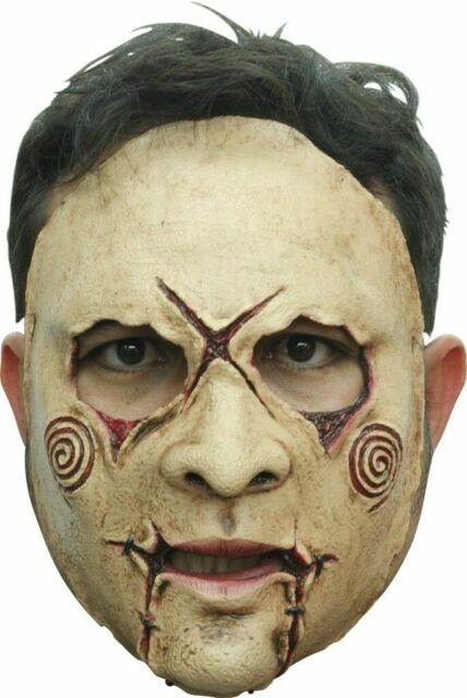 Ghoulish Productions Devil Black Latex Half Mask Rubber Halloween Eye Adult