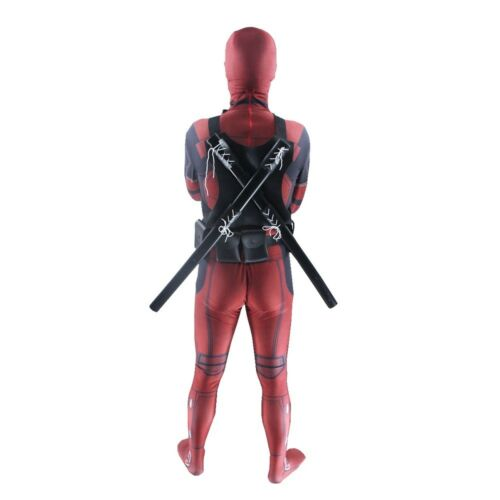Deadpool Costume Adult  Kid Spandex Lycra Zentai Bodysuit Halloween Cosplay Suit