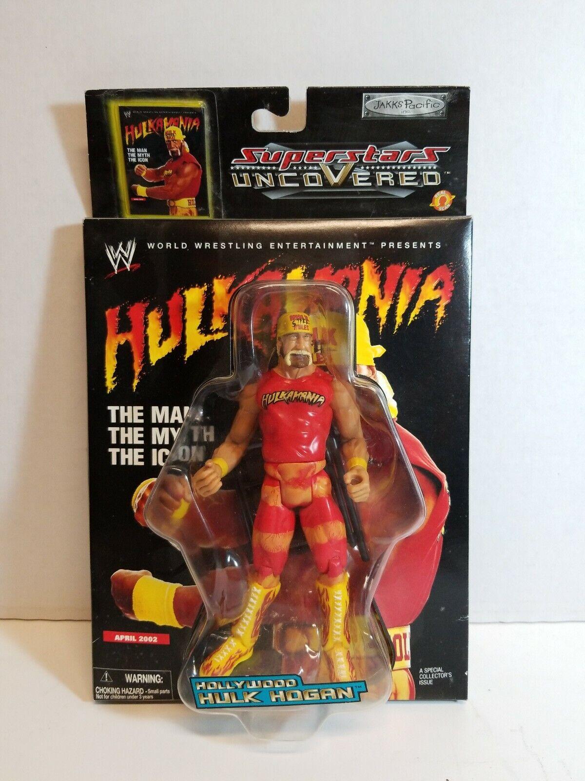 2002 Wrestling WWE Superstar Uncoverosso MOC 7  Hollywood Hulk Hogan Figure Jakks
