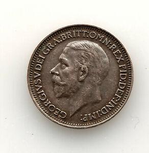 1934 Georg V  Farthing Coin