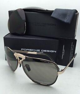 88edf99c3c9c New PORSCHE DESIGN Titanium Sunglasses P 8678 C 67-11 Gold Frame w ...