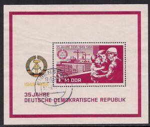 DDR 1984 Mi.: 2896 Block 78, 35 Jahre DDR (II) Gestempelt - Graz-Liebenau, Österreich - DDR 1984 Mi.: 2896 Block 78, 35 Jahre DDR (II) Gestempelt - Graz-Liebenau, Österreich