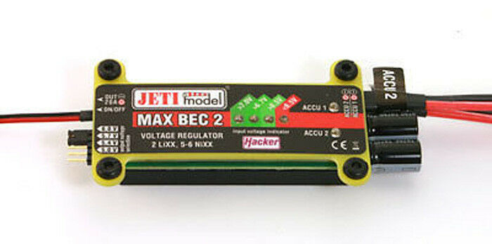 Jeti duplex 2.4 GHz Max Bec 2 22985465 regulador de voltaje