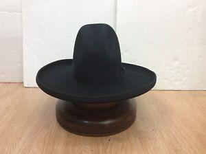 Stetson Cowboy Hat 6X TOM MIX Beaver Fur Black 5