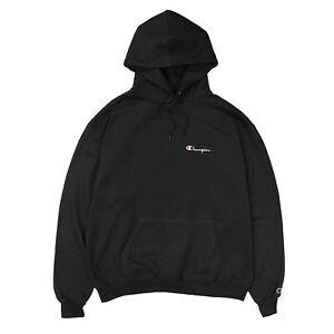 Authentic-Champion-Hoodie-Sweatshirt-top-Black-NWT