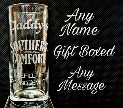 PERSONALISED ENGRAVED SOUTHERN COMFORT GLASS high ball glass GIFT BOXED