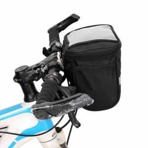 Cycling Handlebar Bar Quick Release Front Basket Portable Bicycle Bag Pouch US