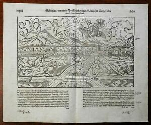 Schlettstatt-Alsace-Holy-Roman-Empire-1598-Munster-Cosmography-early-city-view