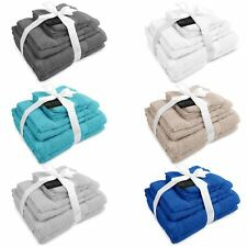 8 Piece Premium Towel Bale 100% Cotton Face, Hand, Bath Gift Set
