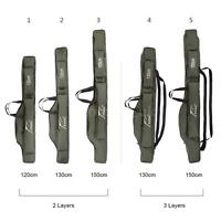 Fishing Rod Case Bag Travel Carry Storage Waterproof Portable Double Layer J7e2