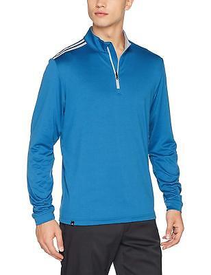 Adidas Performance Herren 3 Streifen Crestable Halber Reißverschluss Golf Sweatshirt Top blau | eBay