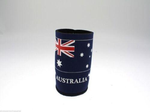 STUBBY HOLDERS X6,AUSTRALIA FLAG,AUSTRALIA DAY CRICKET//DRINK BEER COOLER,SUMMER