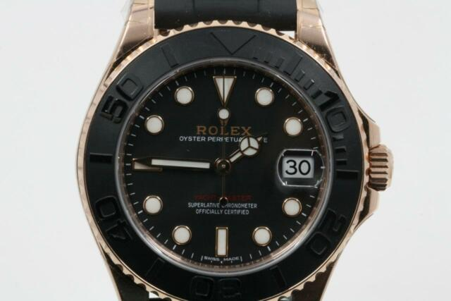 Rolex Yacht Master Black Dial 18k Everose 37mm Automatic 268655