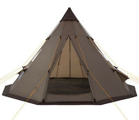 Teepee Tent Tipi Brown Hydrostatic Head Waterproof Wigwam Pyramid Hike Camping