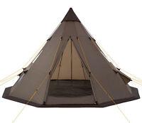 Teepee Tent Tipi Brown Hydrostatic Head Waterproof Wigwam Pyramid Hike Camping