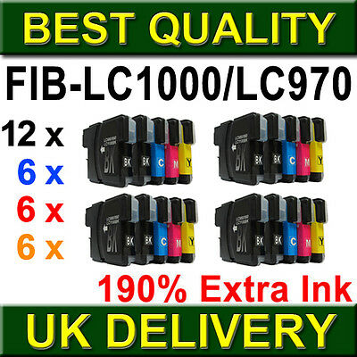 30 Ink Cartridges LC960 LC970 LC1000 Compatible for Brother DCP & MFC Printers