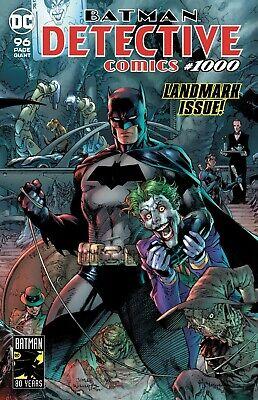 DETECTIVE COMICS 1000 JOCK 2000/'s VARIANT NM 96 PAGE GIANT BATMAN