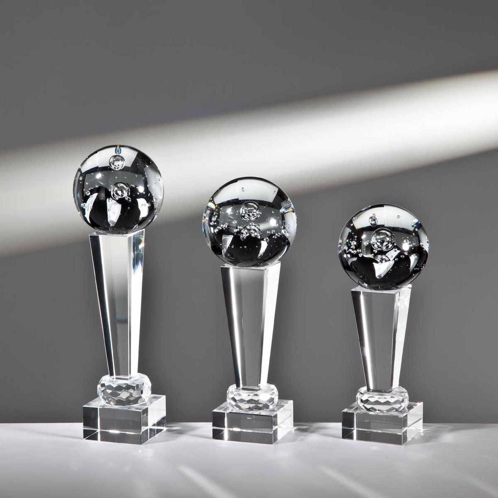1 Noblesseglas Glaspokal 23cm Kristall mit Gravur  128 (Wander-Pokal Jubiläum)