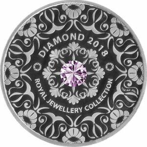5-Cedis-Ghana-2018-1-OZ-Royal-Jewellery-Collection-2018-Purple-Diamant
