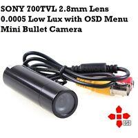 Mini Bullet Camera Sony CCD DSP 700TVL Starlight 3D-DNR 0.0005 Lux OSD CCTV