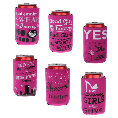 12pcs Funny Can Holder Cooler Stubby Beer Holder Insulator Hen Night Party