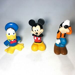 Disney Mickey Figura Bundle Clubhouse Mouse con Donald Duck & Goofy Vintage