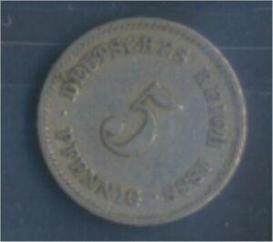 German-Empire-Jagerno-3-1888-J-very-fine-Copper-Nickel-1888-5-Pfennig-7848891