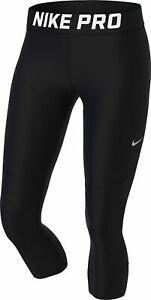 Details zu Nike Damen Fitnesshose Trainingshose Caprohose 34 Tight W NP Pro CAPRI schwarz