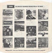 """Vintage INNER SLEEVE or SLEEVES 12"""" EMI ADVERTISING REGAL STARLINE TALISMAN x 1"""